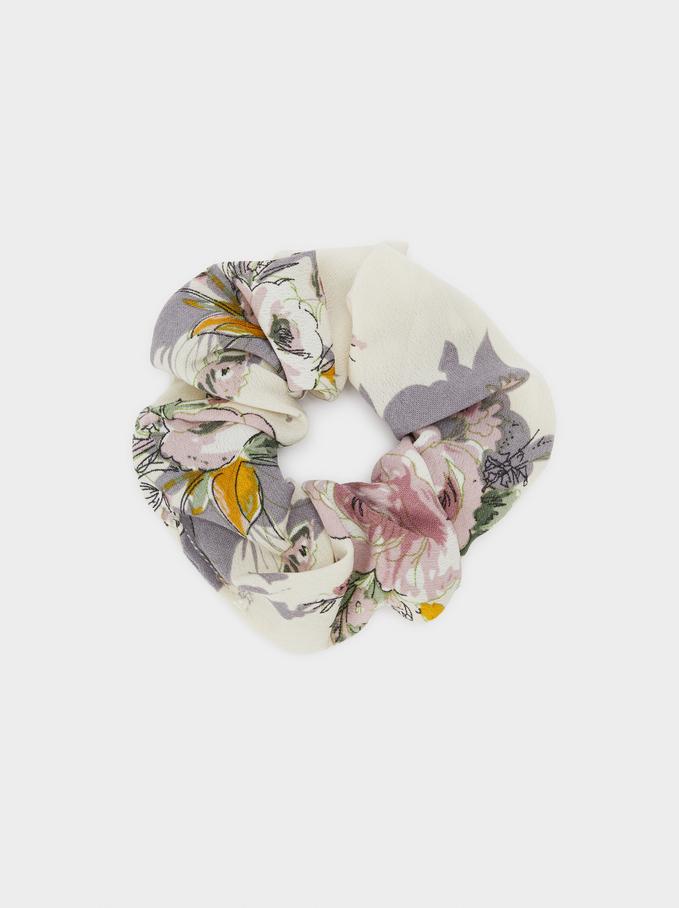 Élastique Imprimé Floral, Multicolore, hi-res