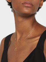 925 Silver Necklace With Pendant, Golden, hi-res