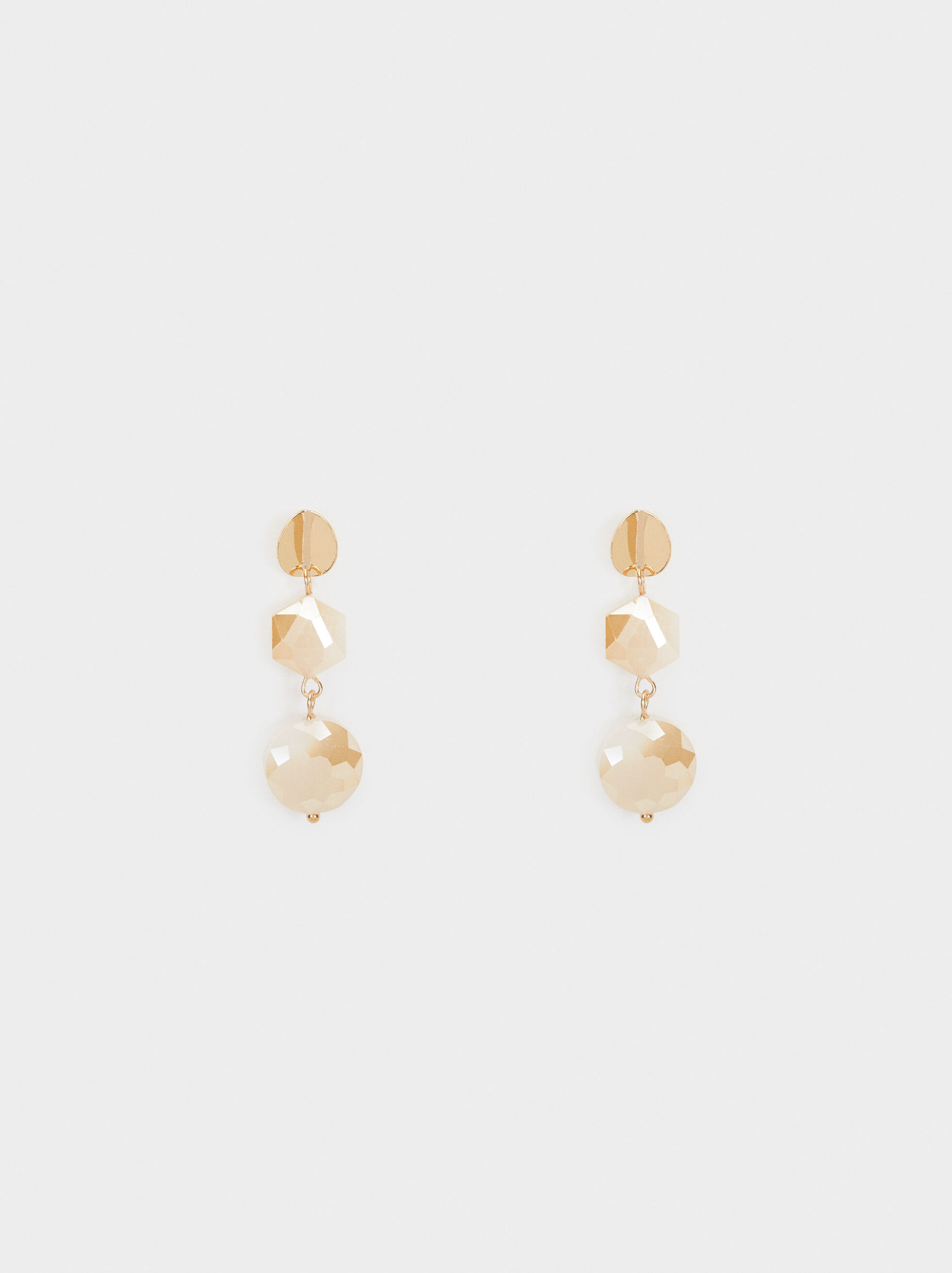 Creme Medium Earrings, Pink, hi-res