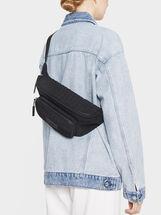 Embossed Belt Bag, Black, hi-res