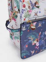 Mochila Estampado Floral, Azul Marino, hi-res