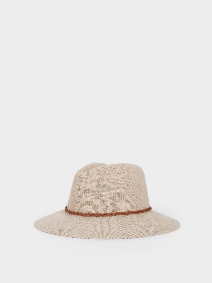 Chapéu De Malha, Bege, hi-res