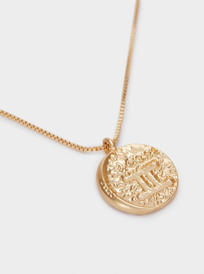 Set Of Contrast Medallion Necklaces, Golden, hi-res
