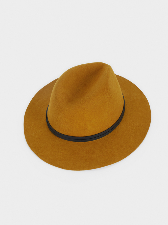 Wool Hat, Mustard, hi-res