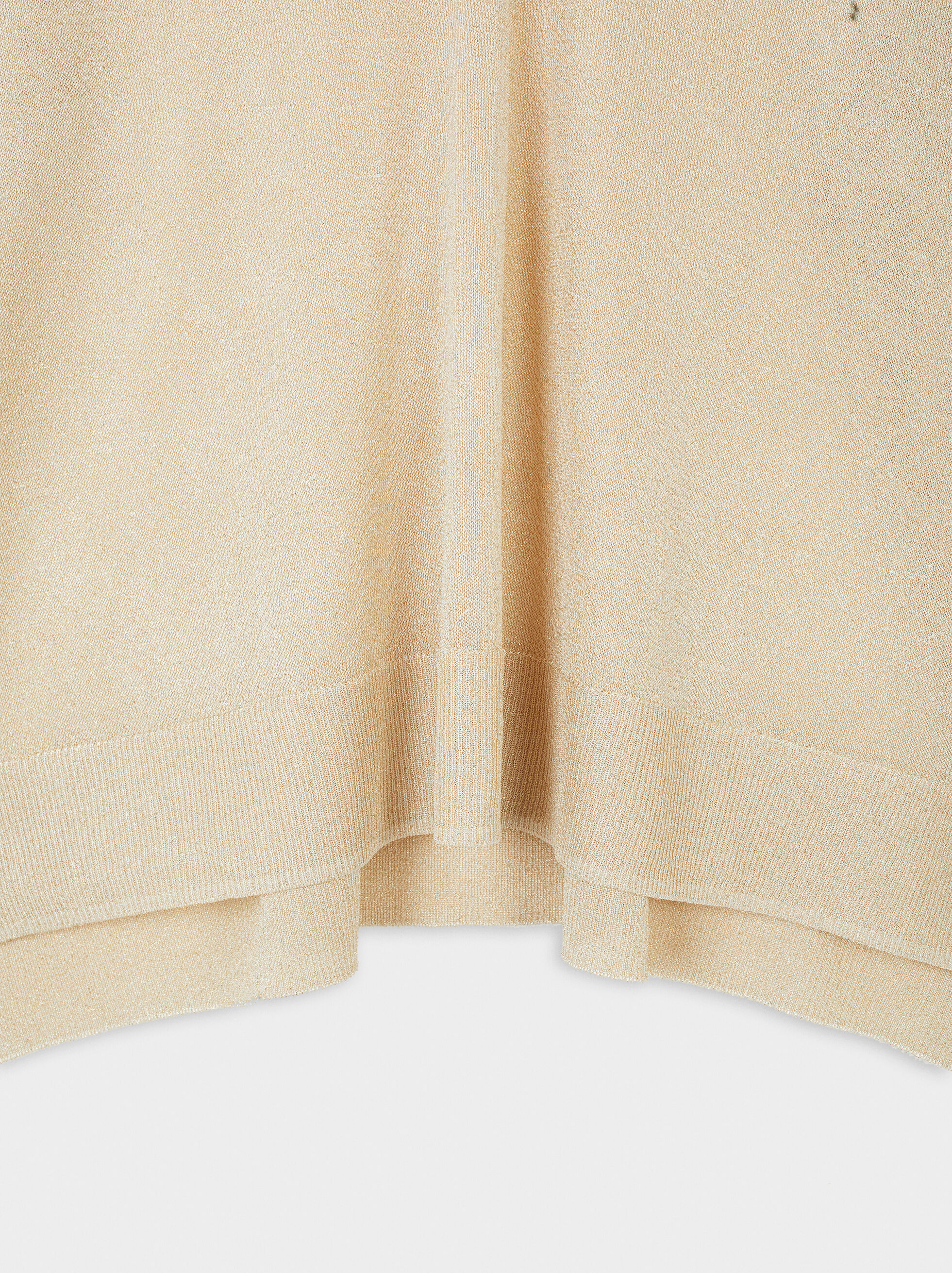 Oversize V-Neck Sweater, Beige, hi-res