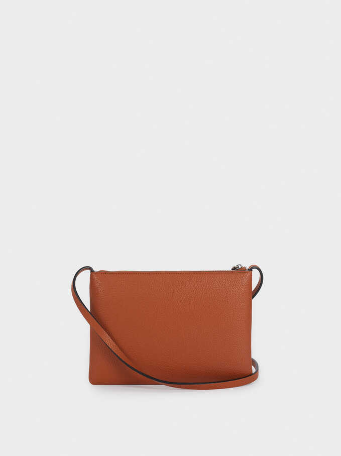 Crossbody Bag With Outer Pocket, Camel, hi-res