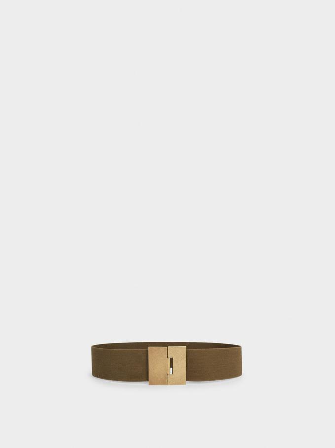 Elastic Belt, Khaki, hi-res