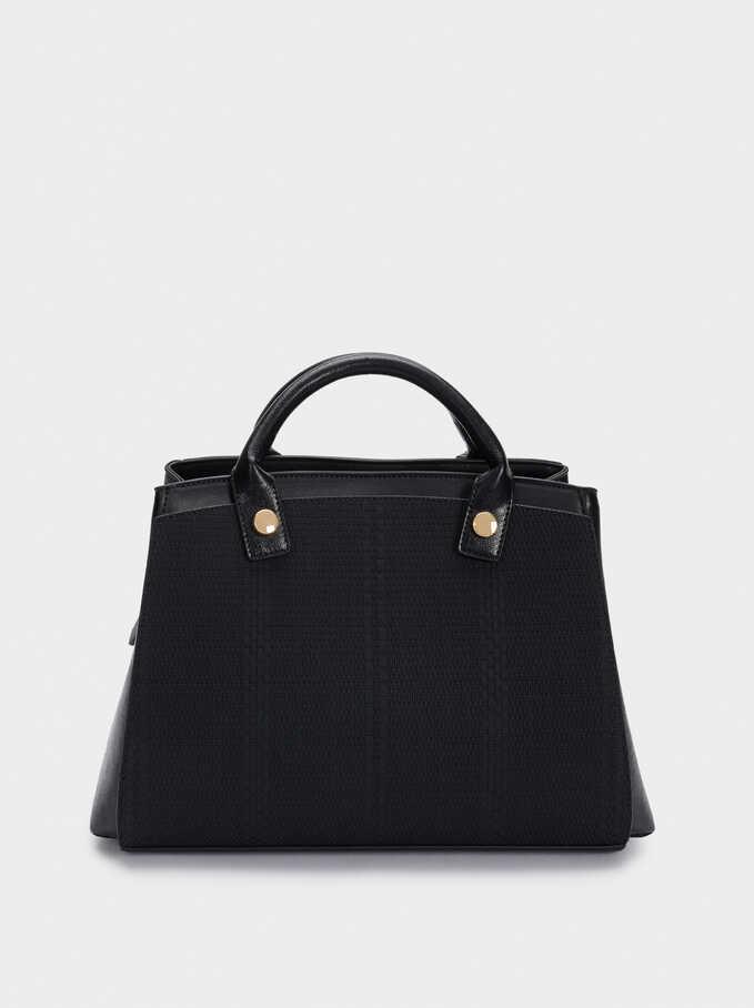 Contrast Tote Bag With Detachable Exterior, Black, hi-res