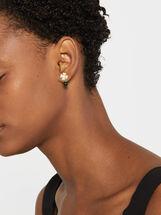 Short Silver 925 Shamrock Earrings, , hi-res