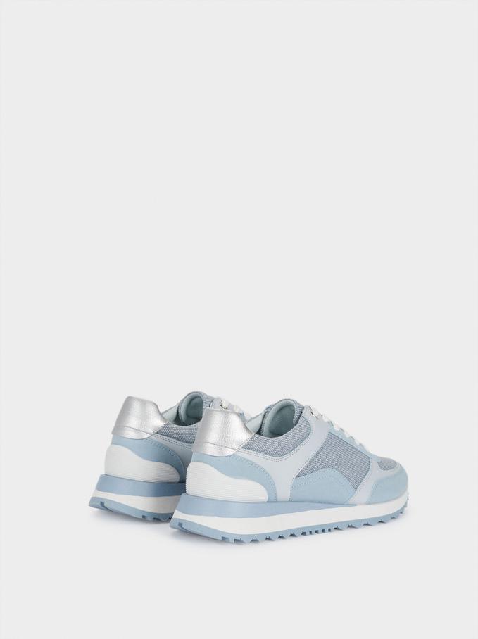 Contrast Sneakers, Blue, hi-res