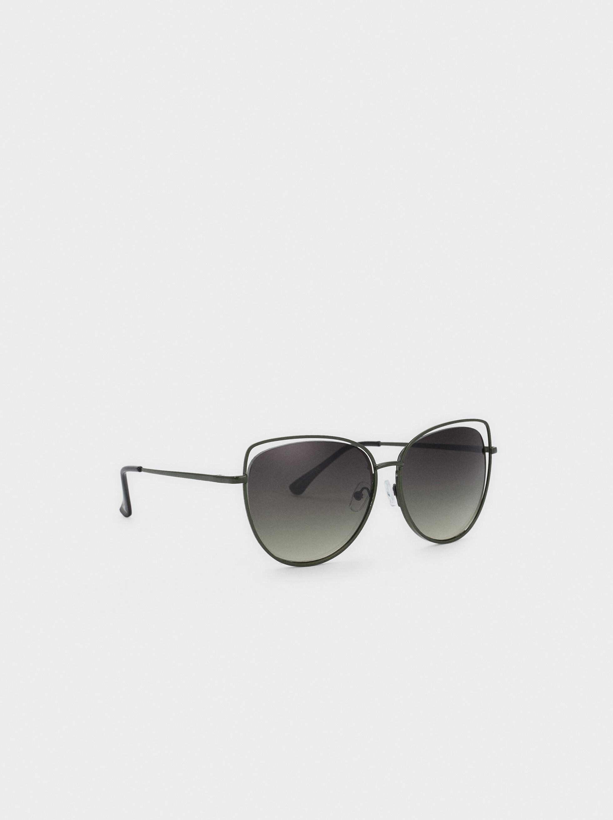 Cat Eye Sunglasses, Green, hi-res