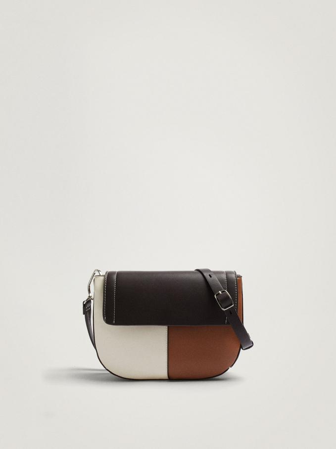 Patchwork Crossbody Bag, Camel, hi-res