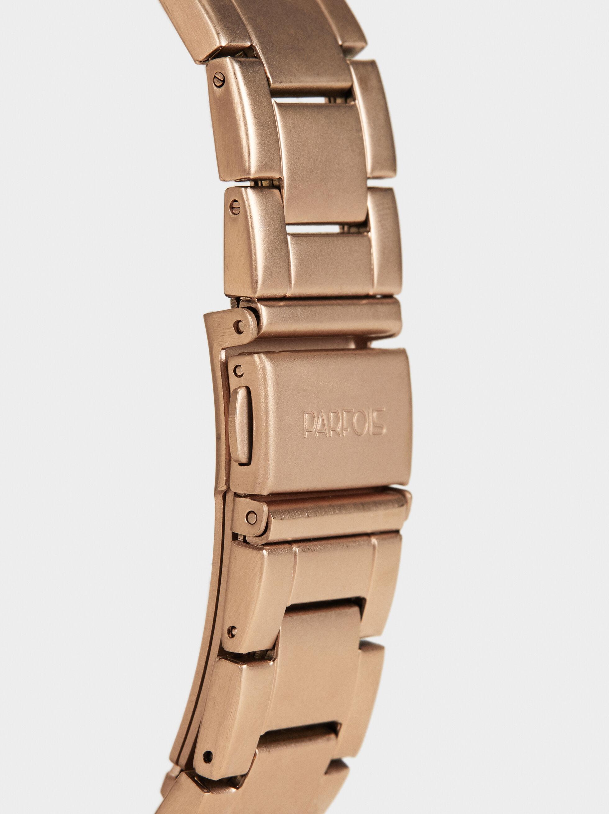 Analogue And Digital Watch, Orange, hi-res