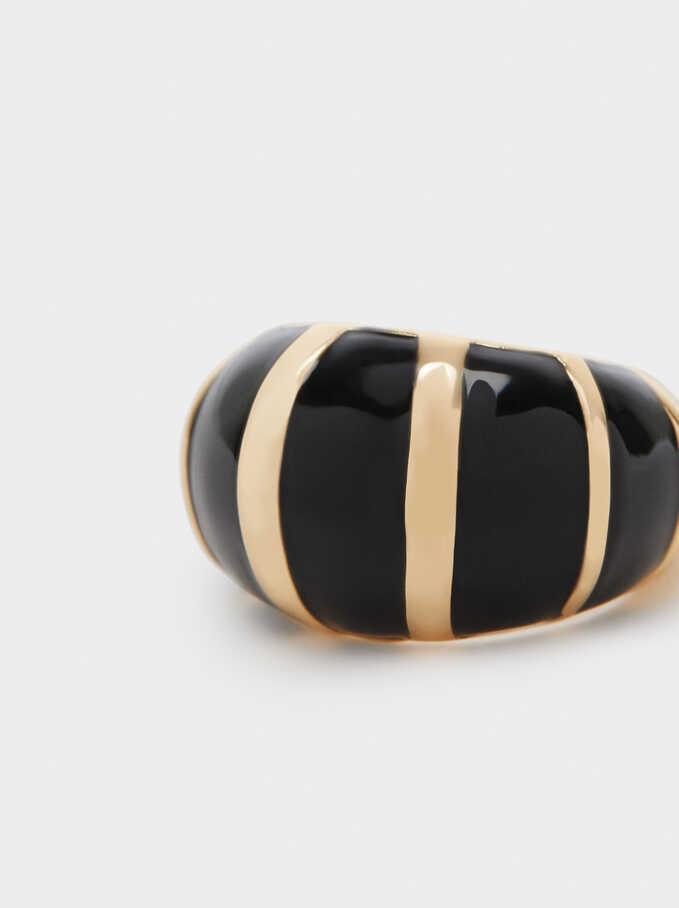 Enamel Ring, Black, hi-res
