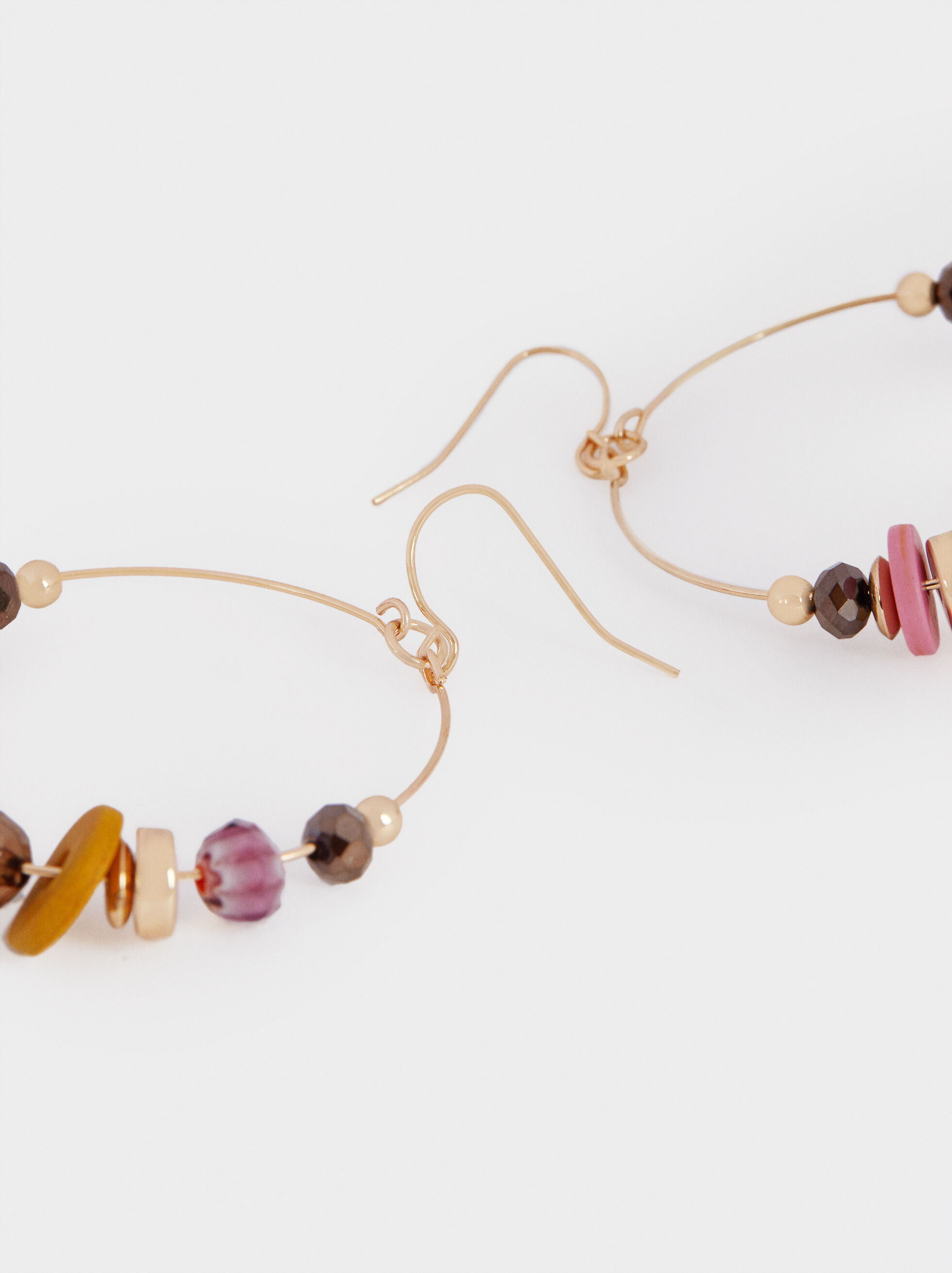 Long Multicoloured Earrings, Multicolor, hi-res