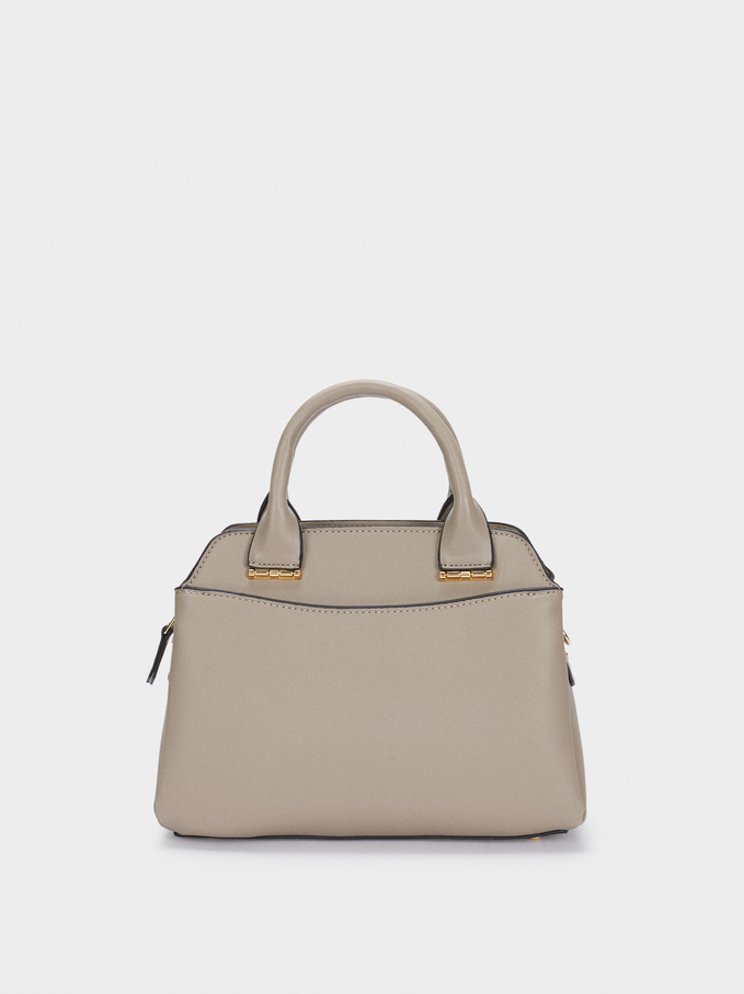 Tote Bag With Removable Strap, Brown, hi-res