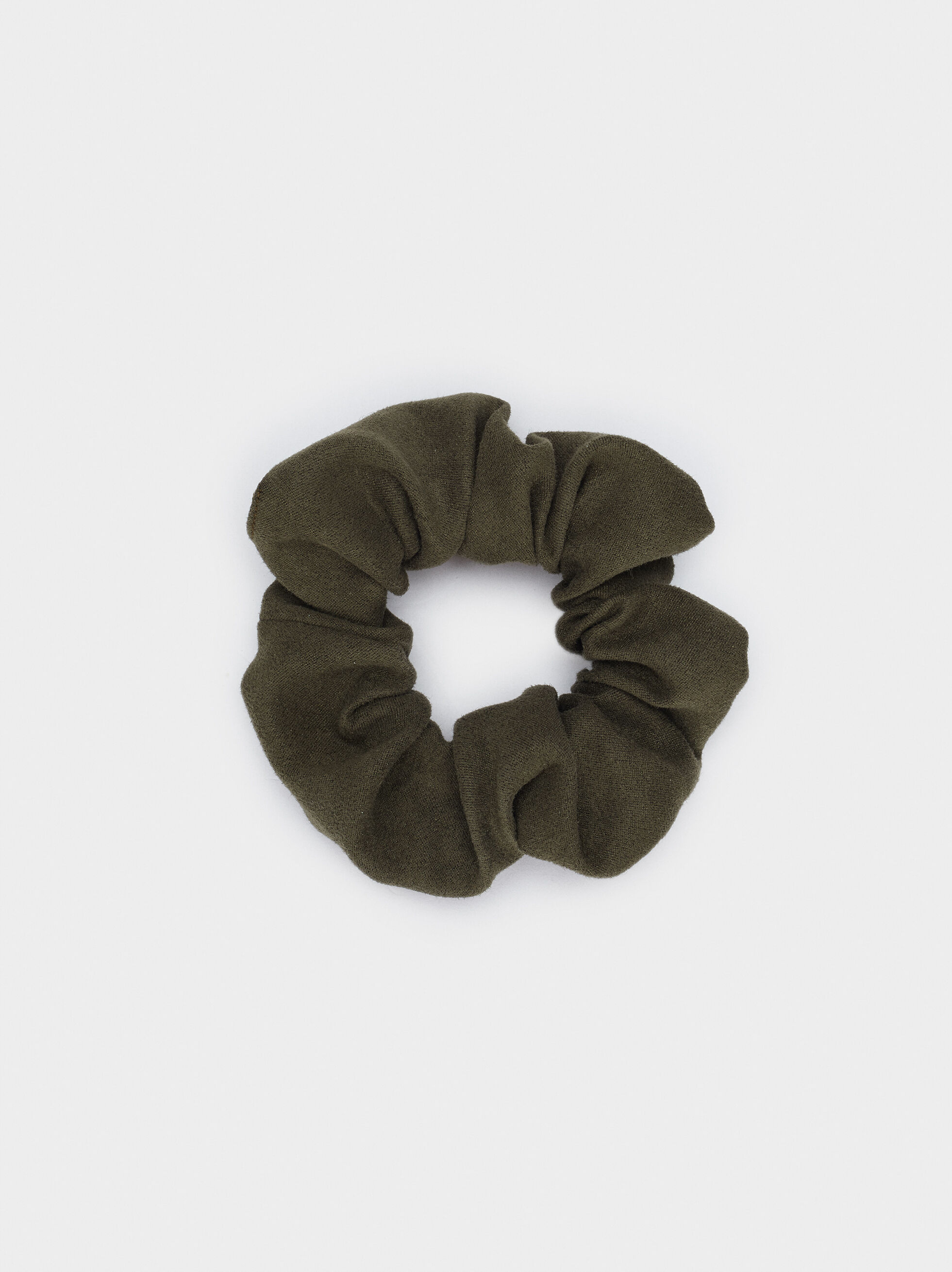 Plain Scrunchie, Khaki, hi-res