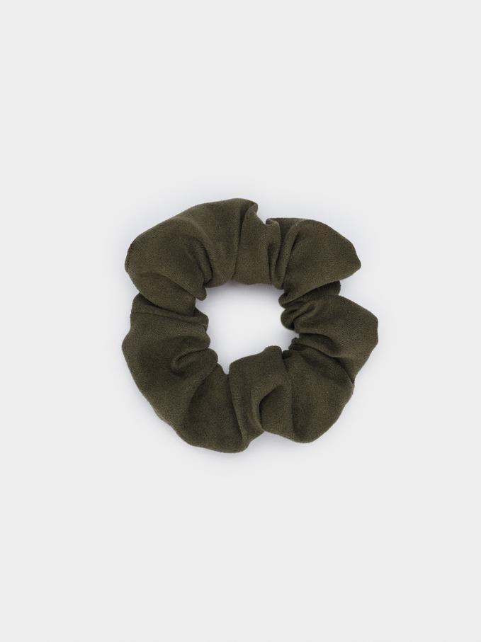 Plain Scrunchie, Khaki, hi-res
