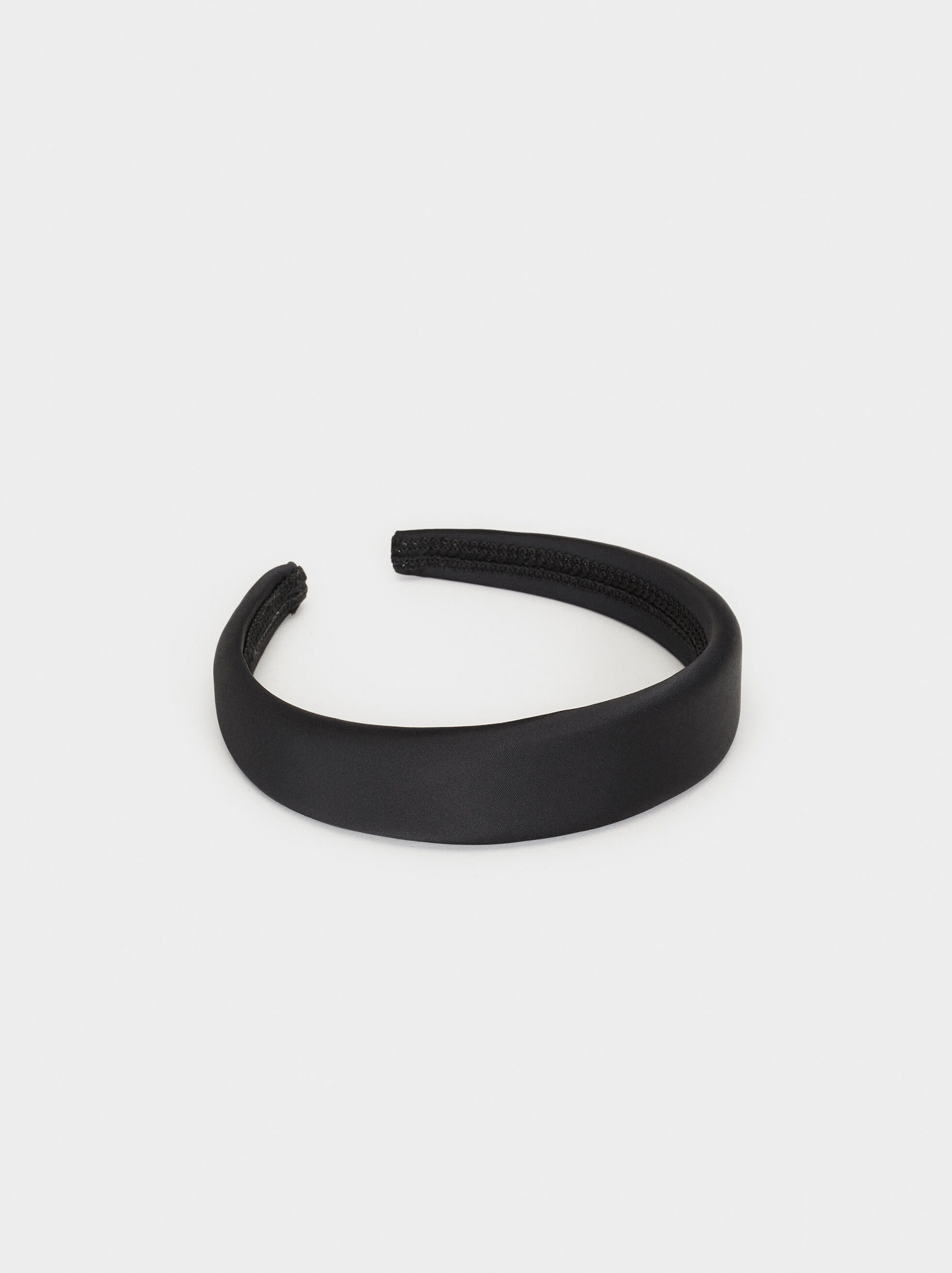 Long Headband, Black, hi-res