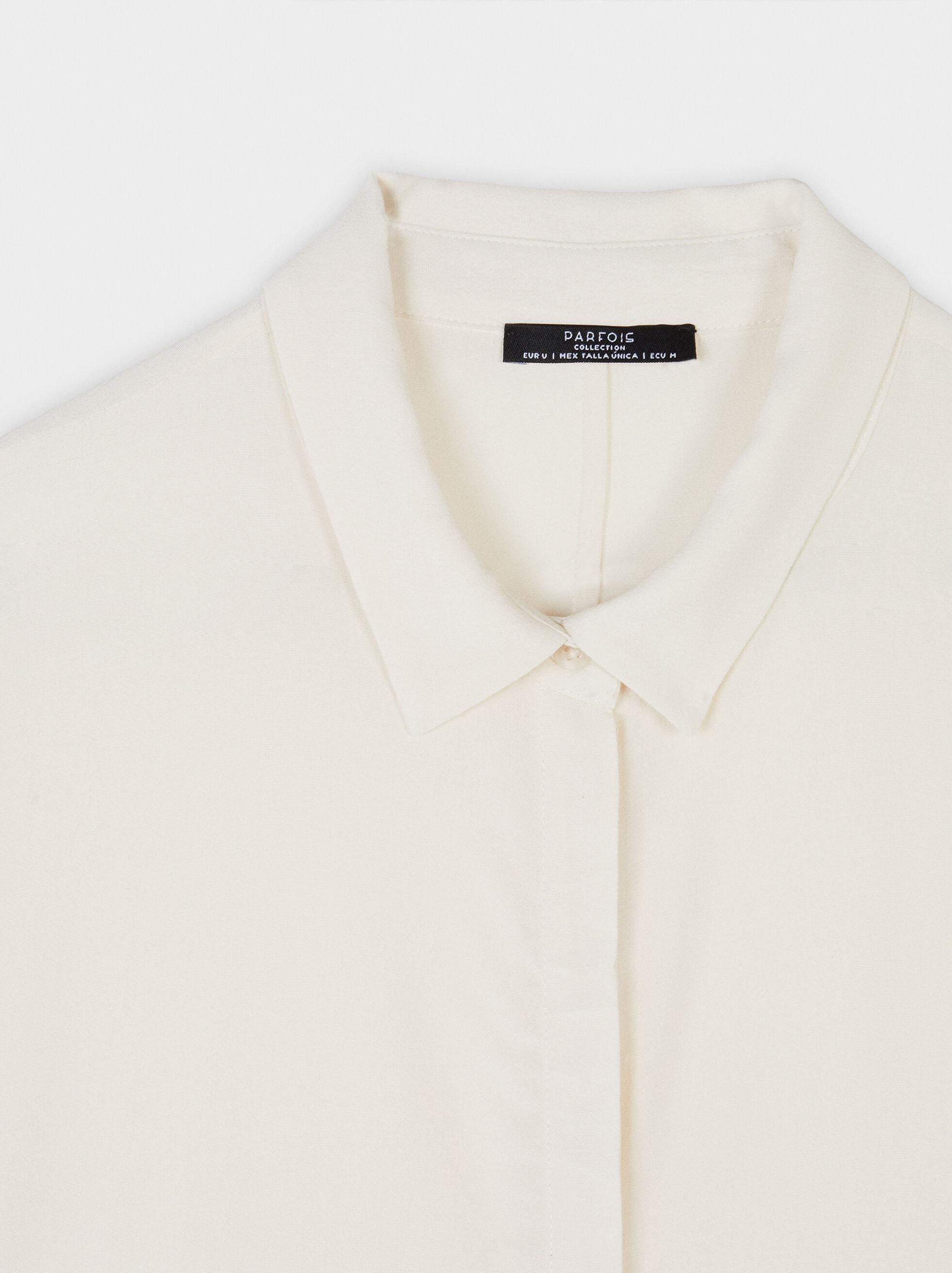 Plain Shirt Dress, Ecru, hi-res