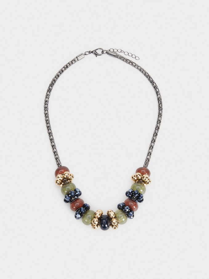 Savage Sparkle Necklace, Multicolor, hi-res