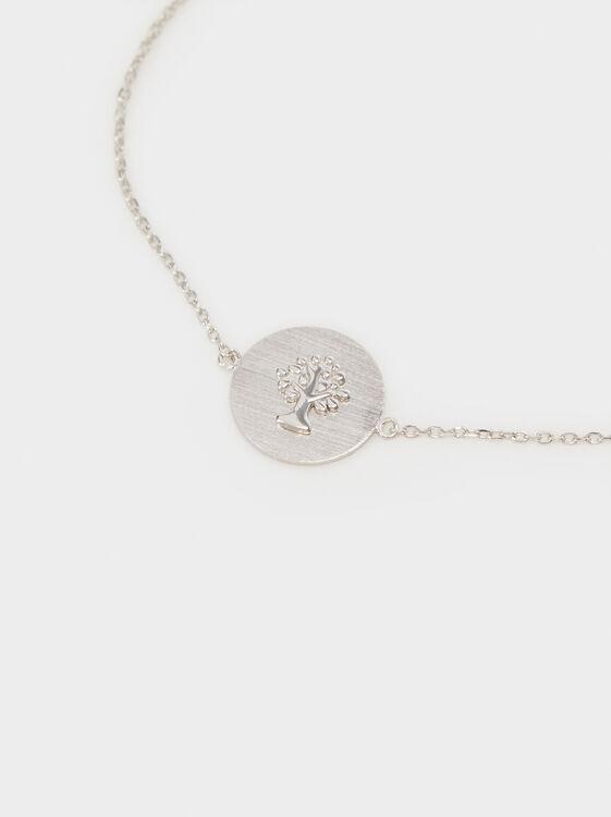 Adjustable 925 Silver Tree Bracelet, Silver, hi-res