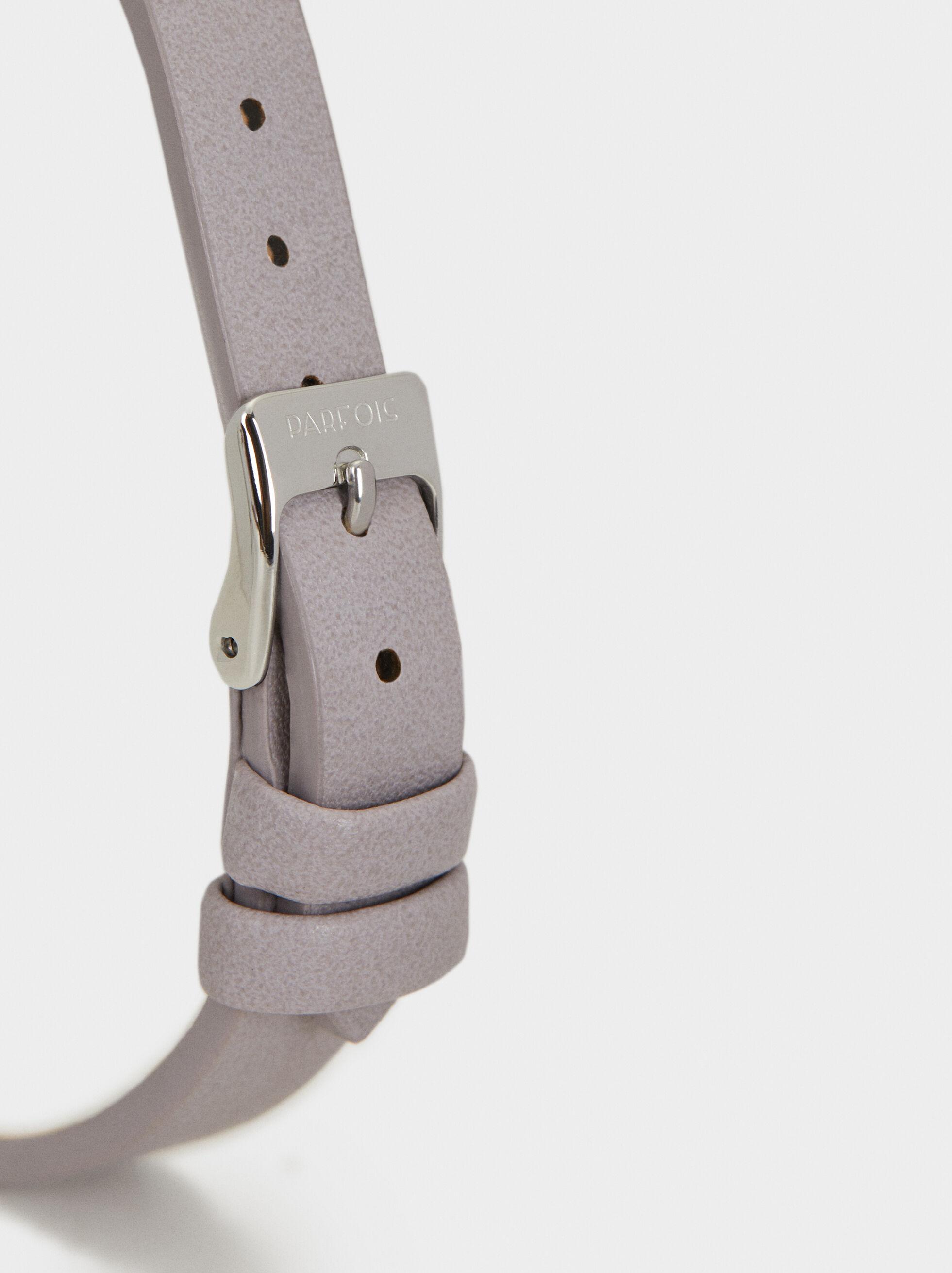 Watch With Metal Detail, Violet, hi-res