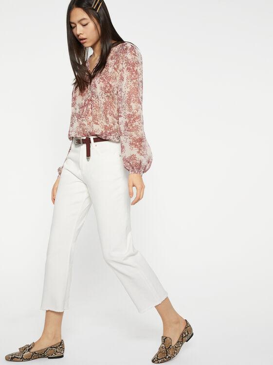 Off White Denim Jeans, , hi-res