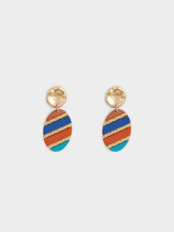 Zorba Multicoloured Long Earrings, Multicolor, hi-res