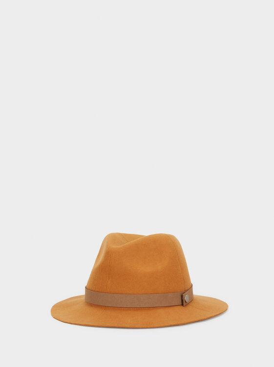 Wool Hat, Mustard, hi-res