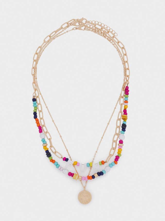 Set Of Fun Contrasting Necklaces, Multicolor, hi-res