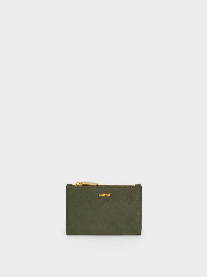 Small Suede Texture Purse, Khaki, hi-res