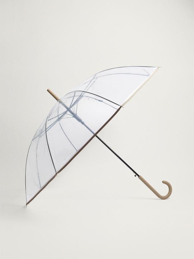Large Folding Umbrella, Grey, hi-res