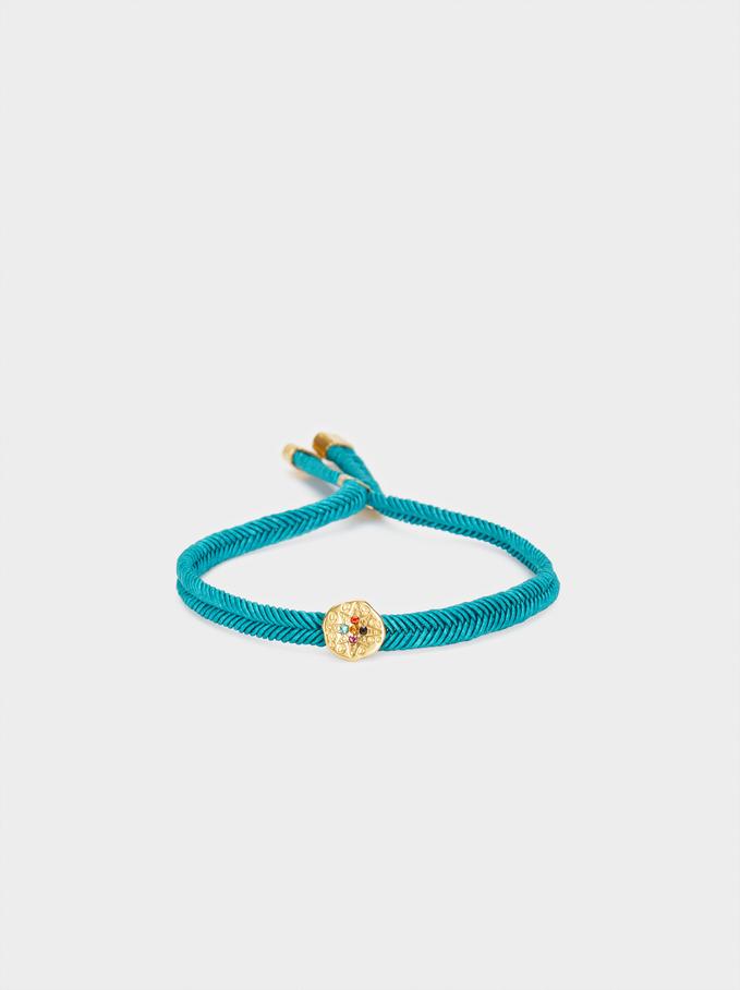 Bracelet Réglable Cordon Étoile, Gris, hi-res