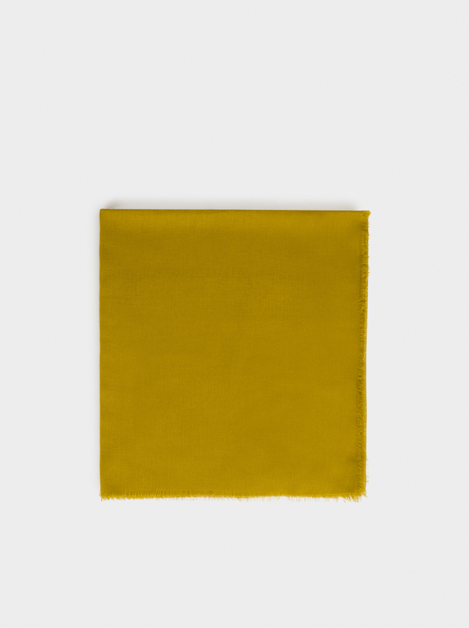 Plain Pashmina, Yellow, hi-res