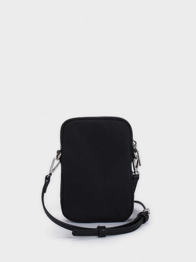 Nylon Phone Case, Black, hi-res