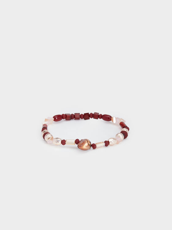 Rose Berry Elastic Bracelet, Multicolor, hi-res
