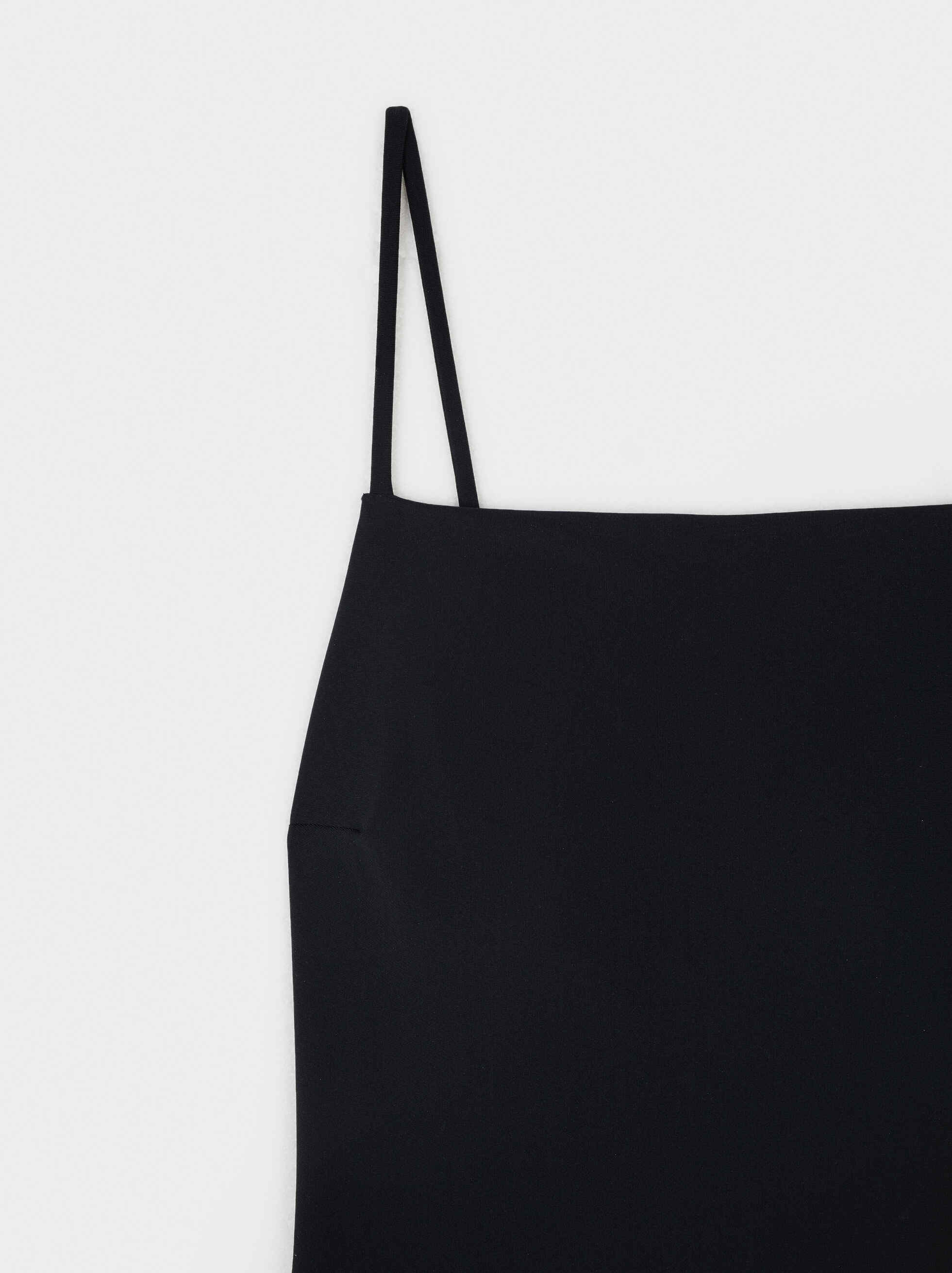 Swimming Costume With Straight Neckline, Black, hi-res