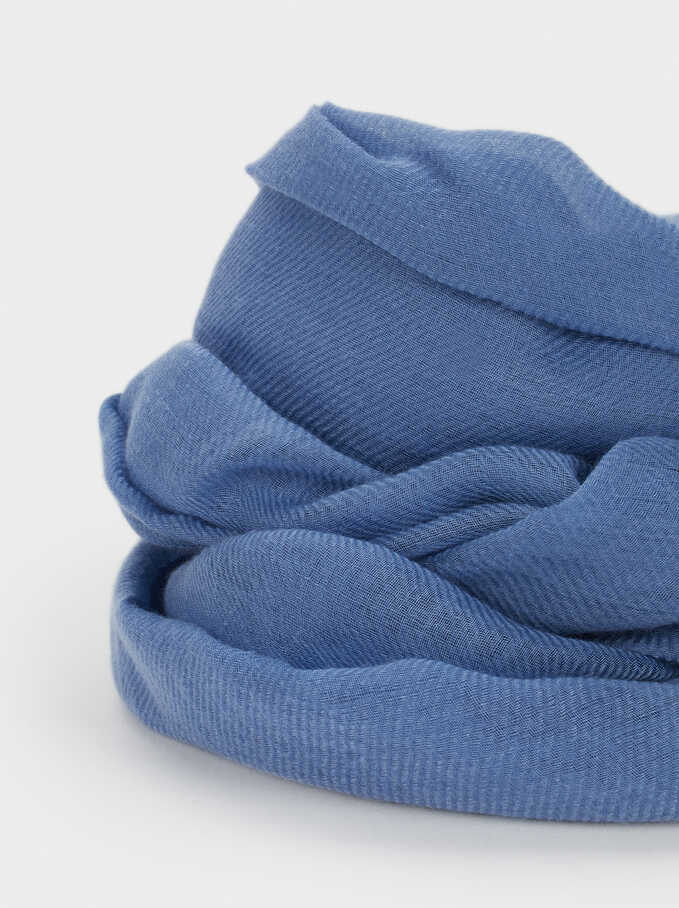 Plain Pashmina, Blue, hi-res