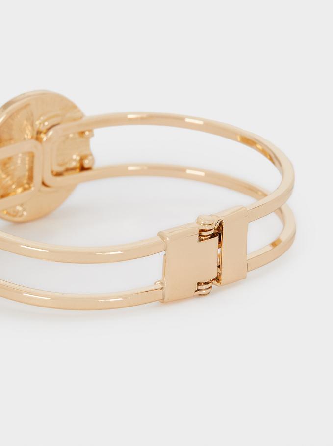 Rigid Double Bracelet, Beige, hi-res