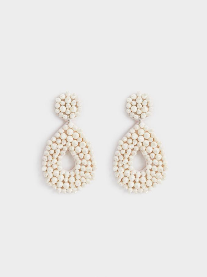 Boucles D'Oreilles Moyennes Watercolor En Perles Fantaisie, , hi-res