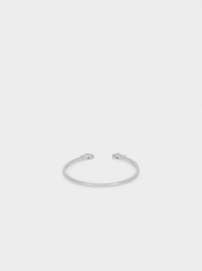 925 Silver Ring With Zirconia, Silver, hi-res
