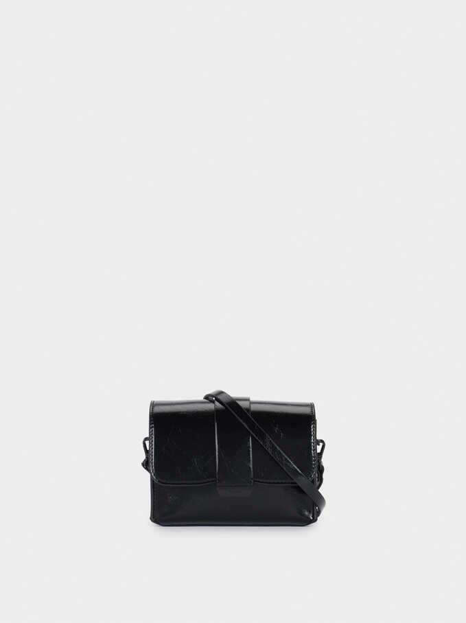 Crossbody Belt Bag, Black, hi-res