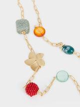 Cherry Blossom Long Necklace, Multicolor, hi-res