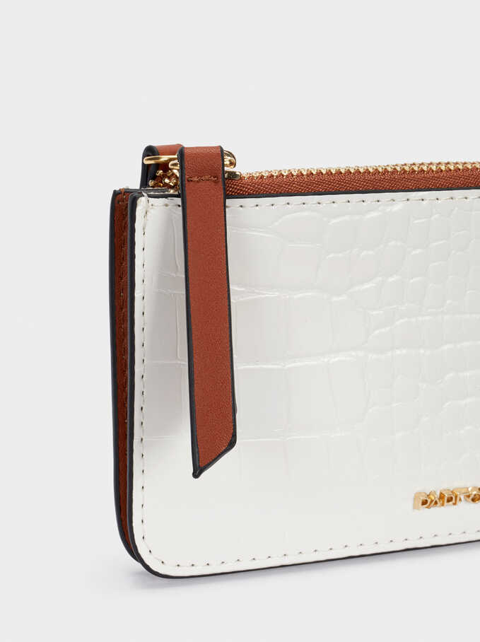 Animal Print Purse, White, hi-res