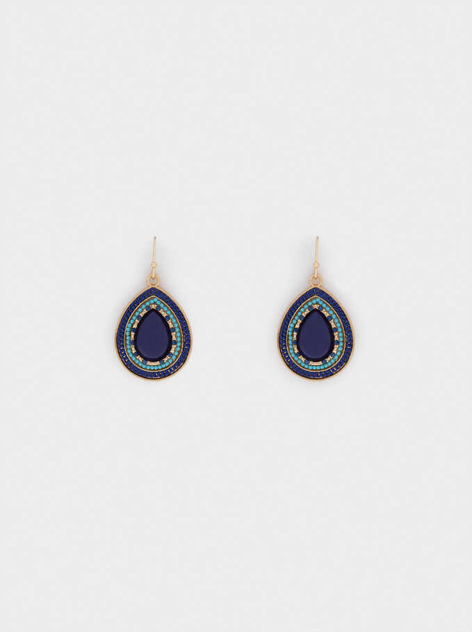 Earrings With Crystals, Multicolor, hi-res