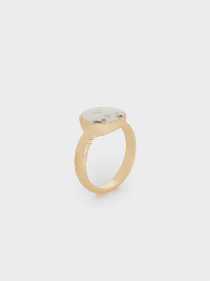 Seashell Ring, Beige, hi-res