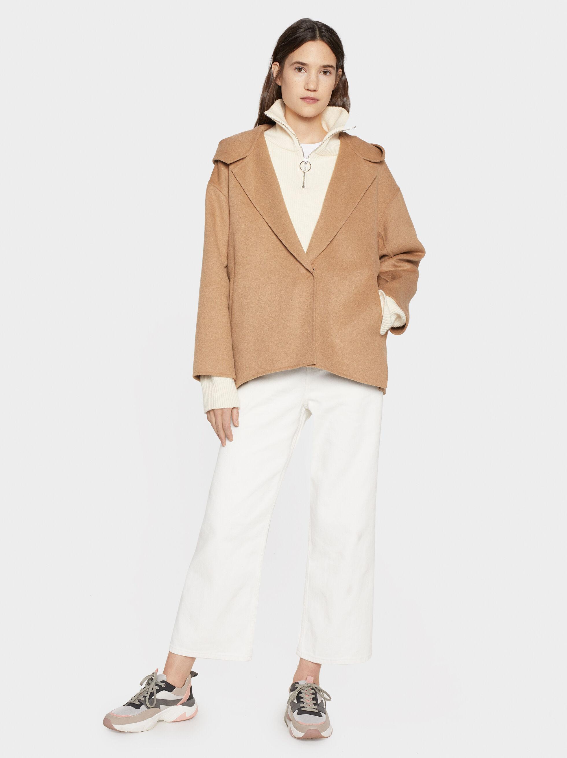 Short Coat With Hood, , hi-res