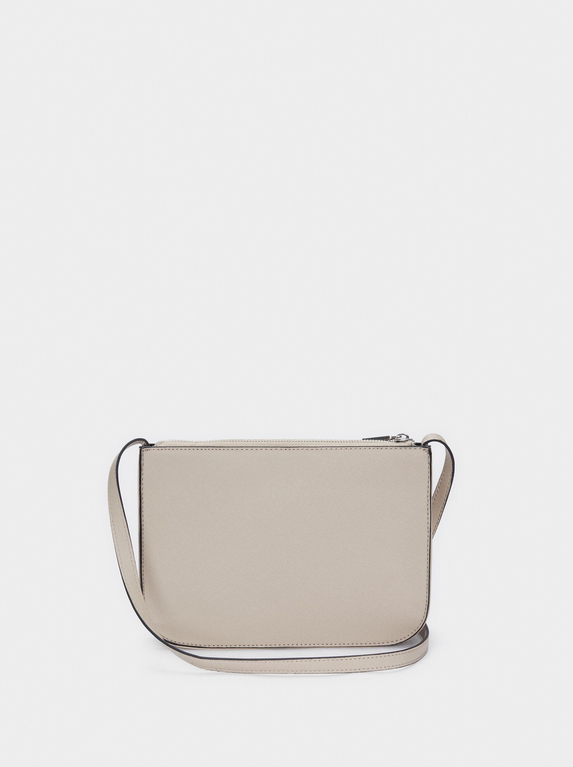 Crossbody Bag With Outer Pocket, Grey, hi-res