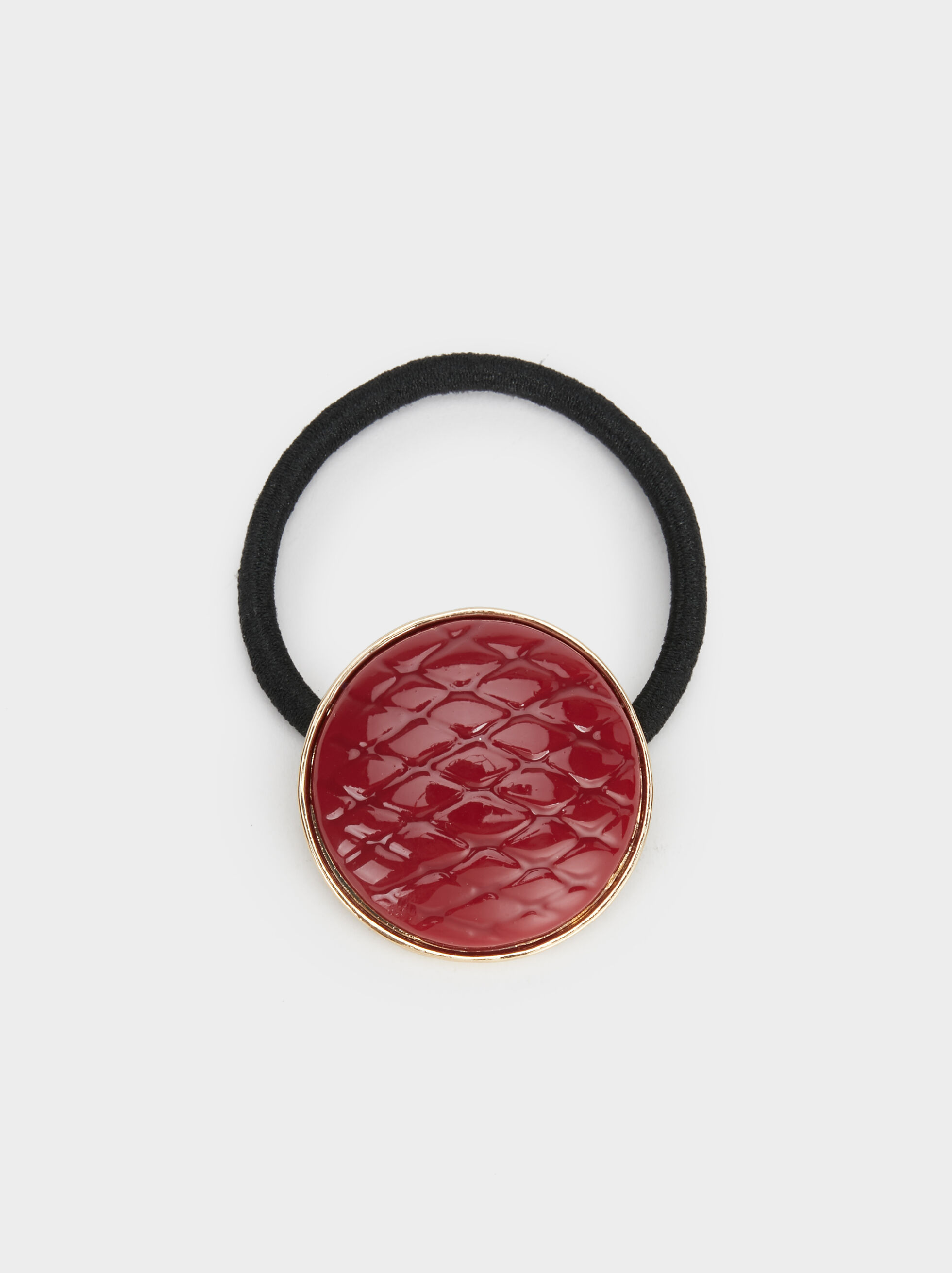 Hair Tie With Appliqué, Red, hi-res